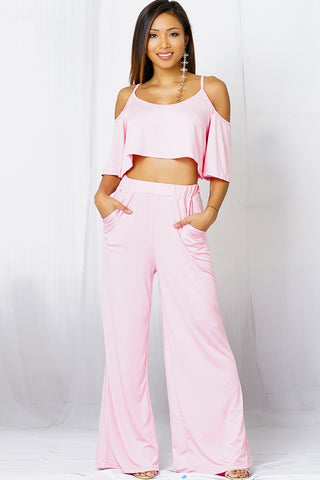 Flowing 2pc Jumpsuit