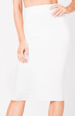High Waist Midi Skirt - Divine Triixz