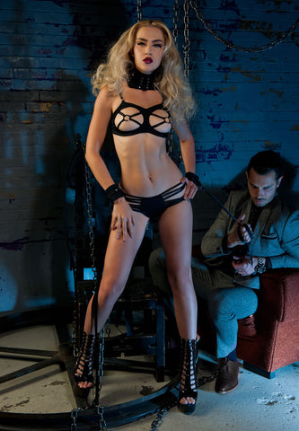 Strap With Open Brest Ring Nipple Bra's- Divine Triixz