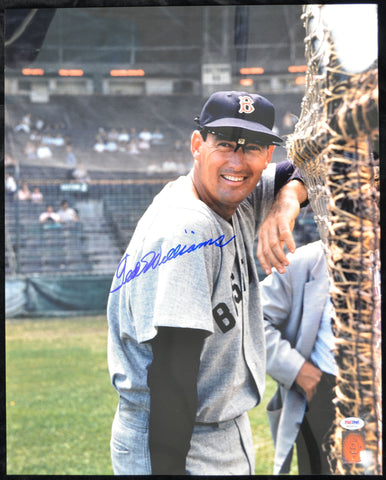 Ted Williams Signed 16x20 Photograph PSA/DNA & Green Diamond Certified