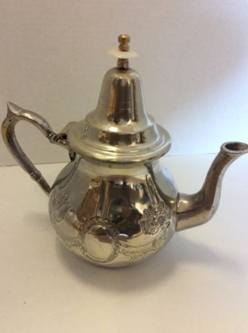 Antique Traditional Moroccan Silver Alloy Fes Argente Seal Large Teapot Seal 44