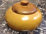 Moroccan Exotic Burlwood Thuya Wood Decor Centerpiece Lidded Canister Trinket 9