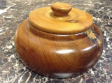 Moroccan Exotic Burlwood Thuya Wood Decor Centerpiece Lidded Canister Trinket 3
