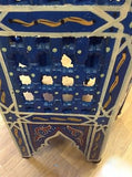 Moroccan Octagonal Moucharabieh Table Arabic Design Furniture  Blue