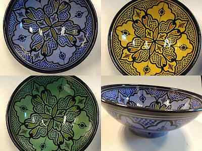 Moroccan Large Pasta Salad Bowl Hand Painted Ceramic Plate Spanish Safi Pottery