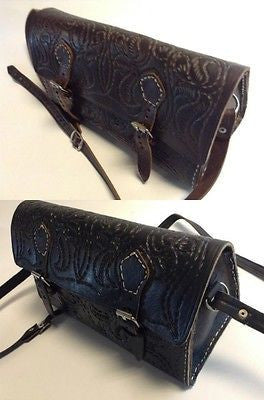 Moroccan Rustic  Handmade Hand Bag Purse in Embossed Rugged Leather