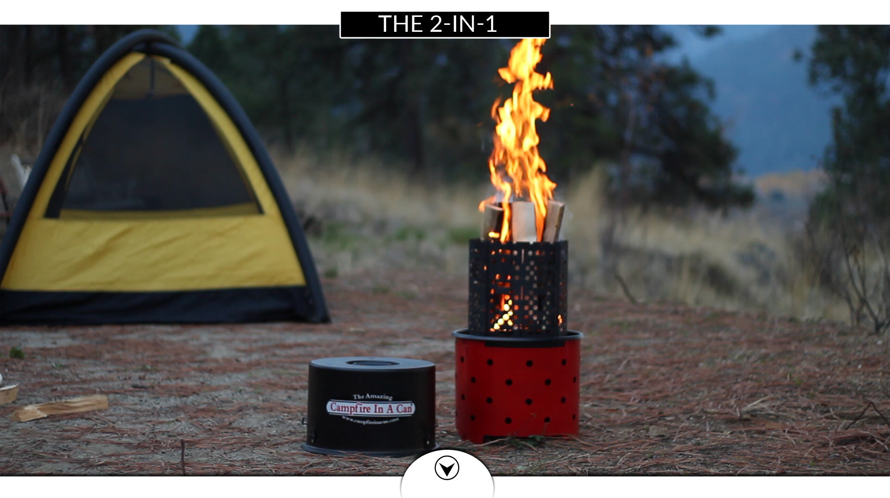 2 in 1 campfire in a can