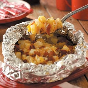 foil cheesy potatoes