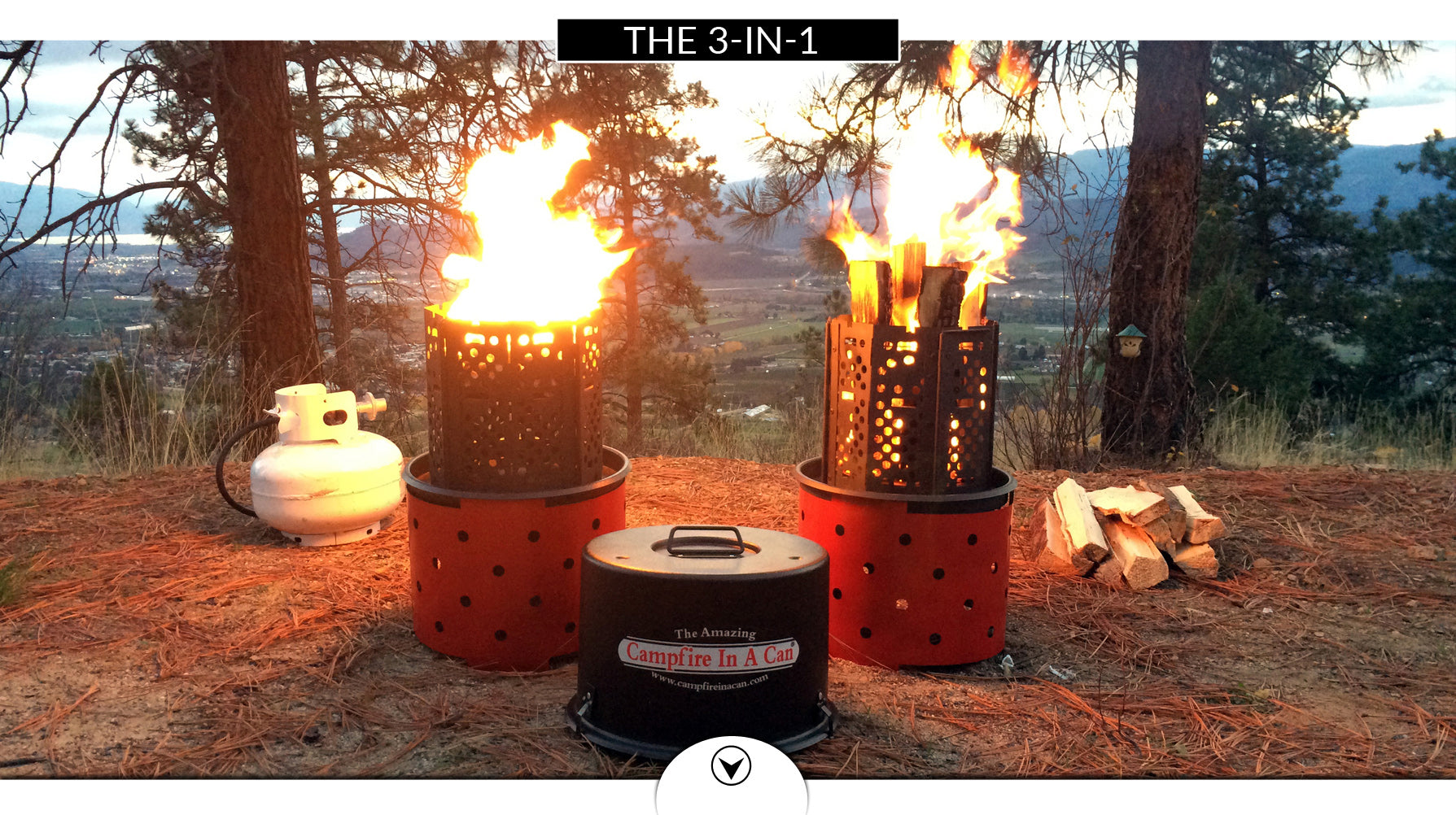 3-in-1 campfire in a can