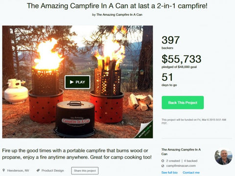 2-in-1 campfire in a can