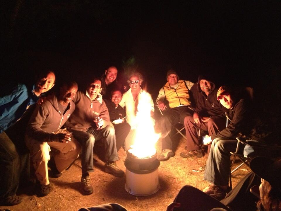 campfire during fire ban