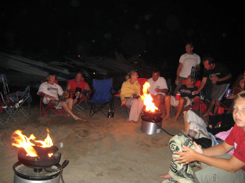 campfire in a can beach
