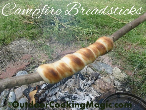 campfire breadsticks, bread on a stick, campfire bread, campfire biscuits