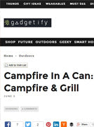 Campfire In A Can Featured in Gadgetify