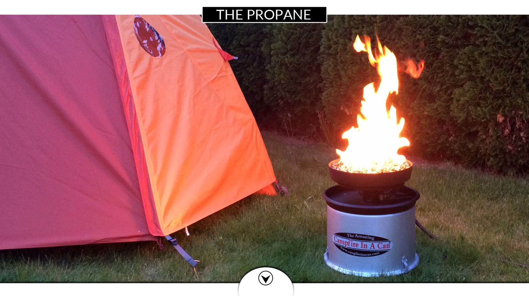 propane campfire in a can