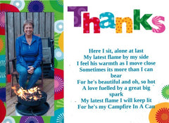 campfire in a can thank you note