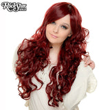 "Cosplay Wigs USA™ <br> Curly 70cm/28"" - Burgundy -00305"