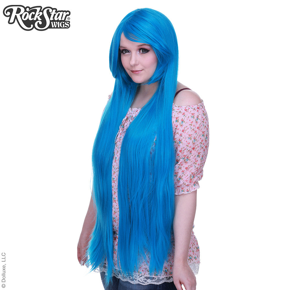 "Cosplay Wigs USA™ <br> Straight 100cm/40"" - Miku Blue- 00354"