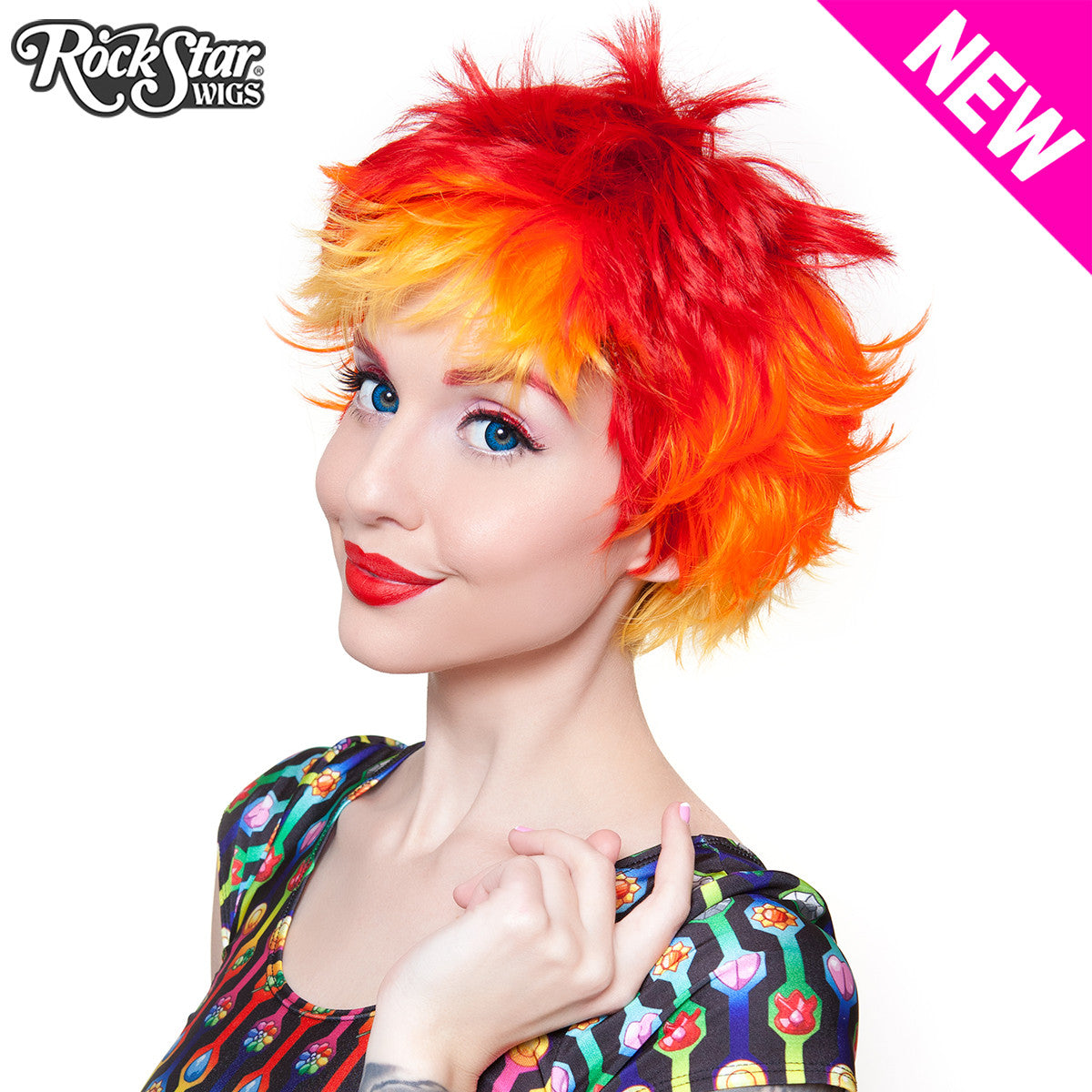 RockStar Wigs® Sassi Short - Screaming Crimson -00381