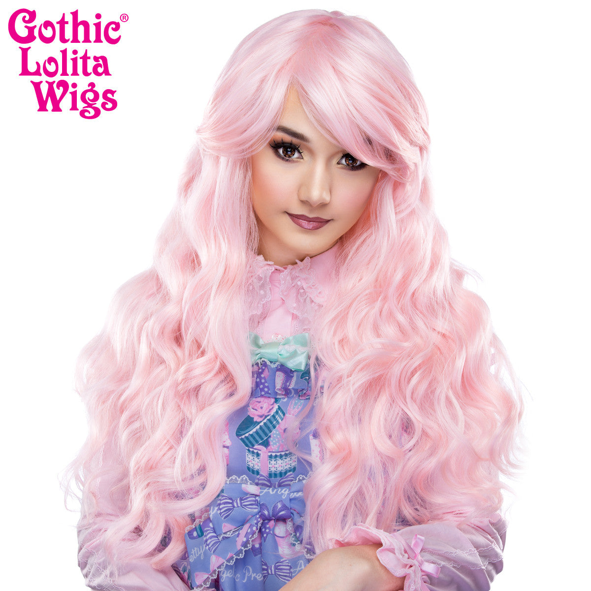 Gothic Lolita Wigs® <br> Classic Wavy Lolita™ Collection - Pink Blonde -00464