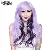 RockStar Wigs® <br> Downtown Girl™ Collection - Lavender Blonde Mix & Black Plum Mix -00514