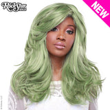 "RockStar Wigs® <br> Hologram 22"" - Dark Mint Mix -00639"