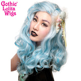 Lace Front Peek-A-Boo - Powder Blue with Aqua Highlight 00695