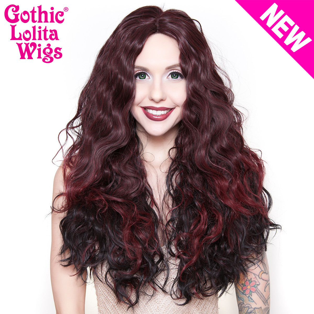 Lace Front Malibu - Black Burgundy -00725