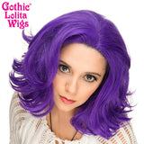 "Lace Front 14"" Shag - Purple Grape Mix -00798"