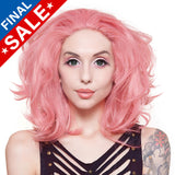 "**Retired** Lace Front 14"" Shag - Milk Shake Pink Mix -00797"