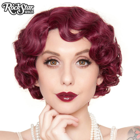 RockStar Wigs®- 1920's Flapper Finger Waves - Burgundy (00839)