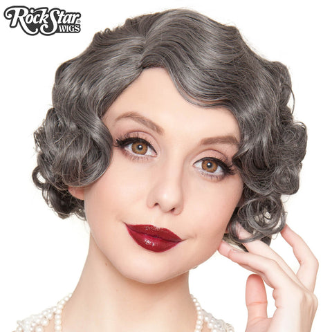RockStar Wigs®- 1920's Flapper Finger Waves - Dark Grey (00840)
