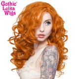 "Lace Front 22"" Cosplay - Dark Pumpkin Orange -00256"