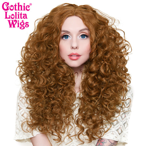 "Lace Front 25"" Long Curly - Medium Brown Blend -00776"