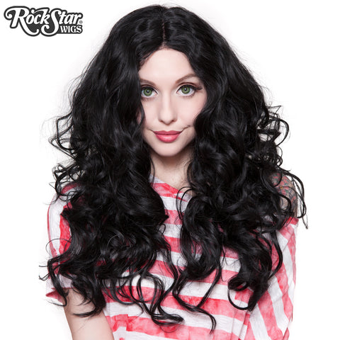 "Lace Front 30"" Long Wavy - Black - 00773"