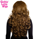 "Lace Front 30"" Long Wavy - Medium Brown Blend - 00775"