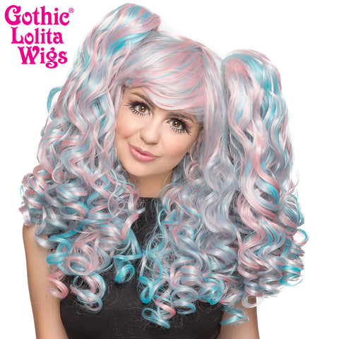 Gothic Lolita Wigs® <br> Baby Dollight™ Collection - 00013  Pink & Blue Blend