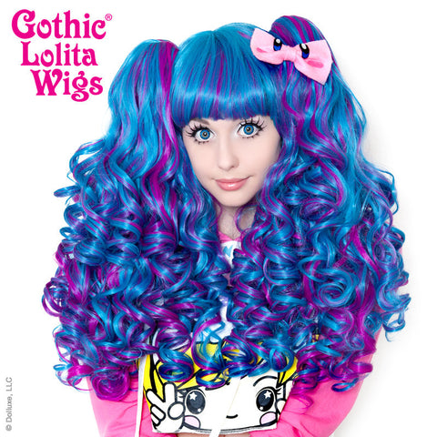 Gothic Lolita Wigs® <br> Baby Dollight™ Collection - 00016 Turquoise & Magenta Blend