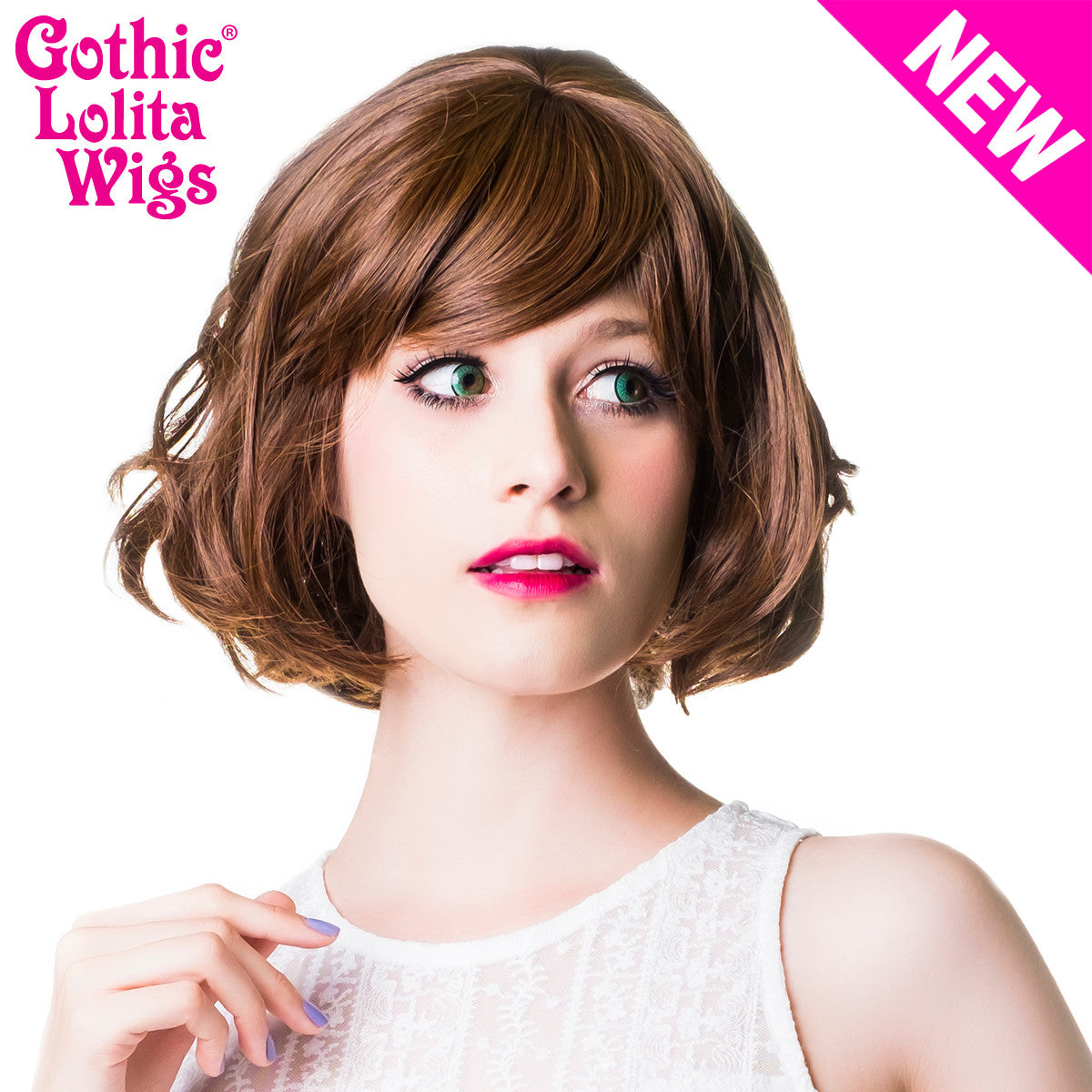 Gothic Lolita Wigs® Bon Bon Collection - Golden Chestnut Brown Mix -00491