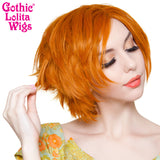 Lace Front Boy Cut- Dark Pumkin Orange -00806