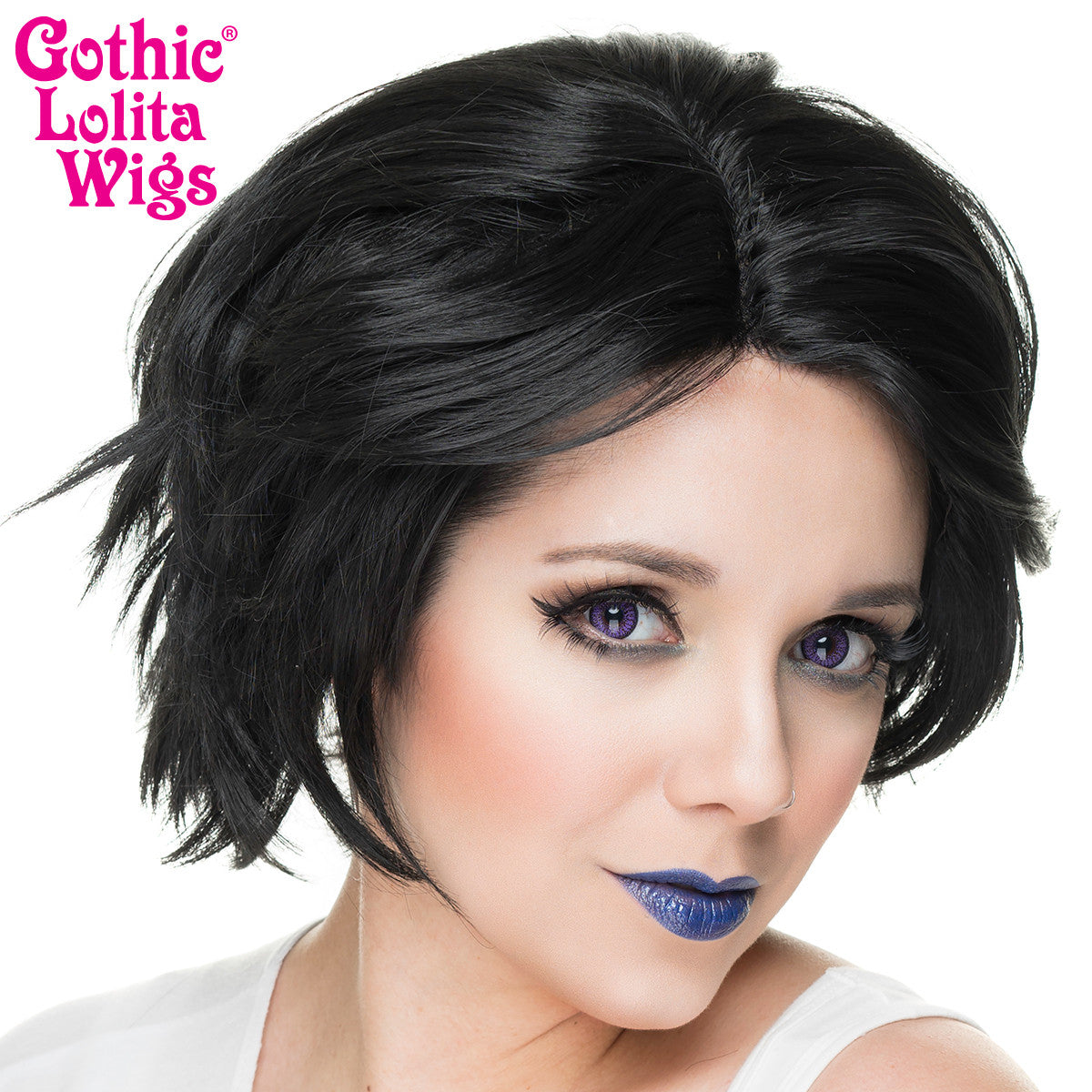 Retired Lace Front Boy Cut Black 00808 Gothic Lolita Wigs