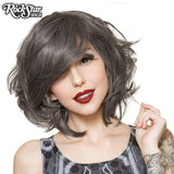 Cosplay Wigs USA™ <br> Boy Cut Short Shag - Pewter - 00442