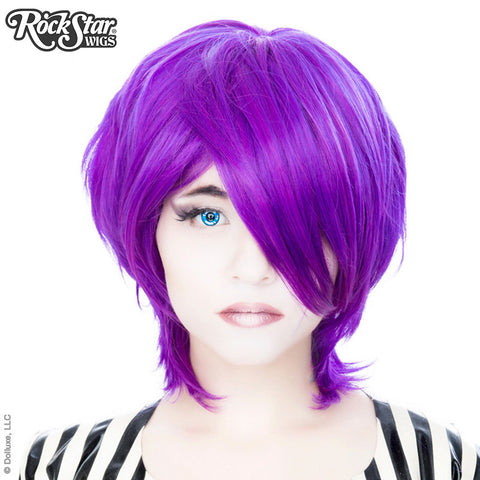 Cosplay Wigs USA™ <br> Boy Cut Long - Linden Purple Grape -00453