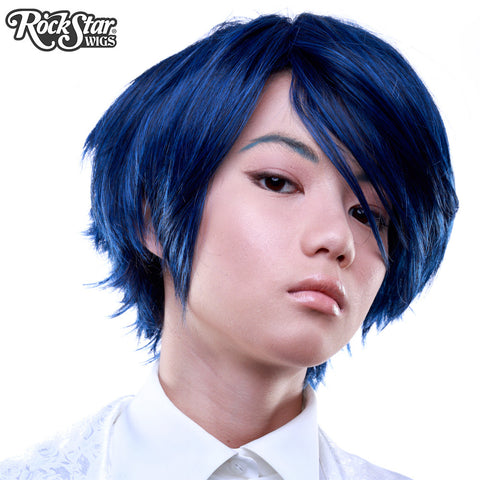 Cosplay Wigs USA™ <br> Boy Cut Short - Blue Black -00259