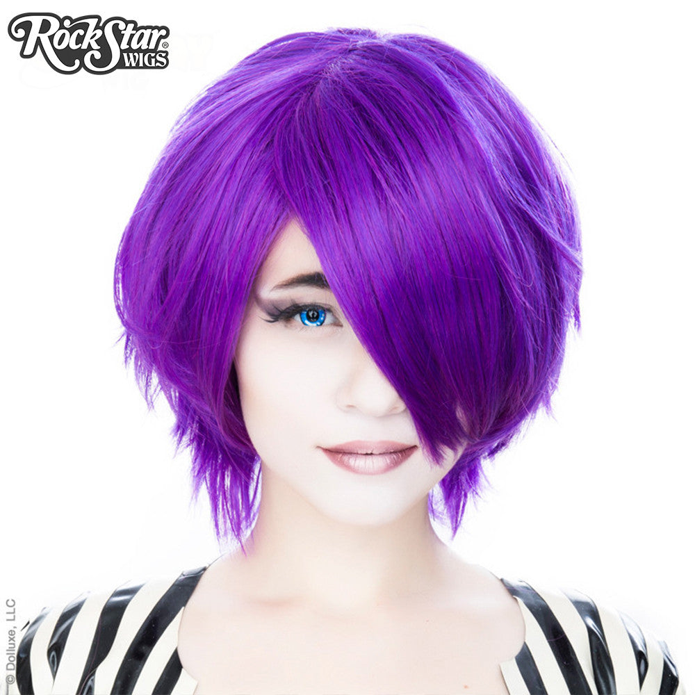 Cosplay Wigs USA™ <br> Boy Cut Short - Purple Grape -00450