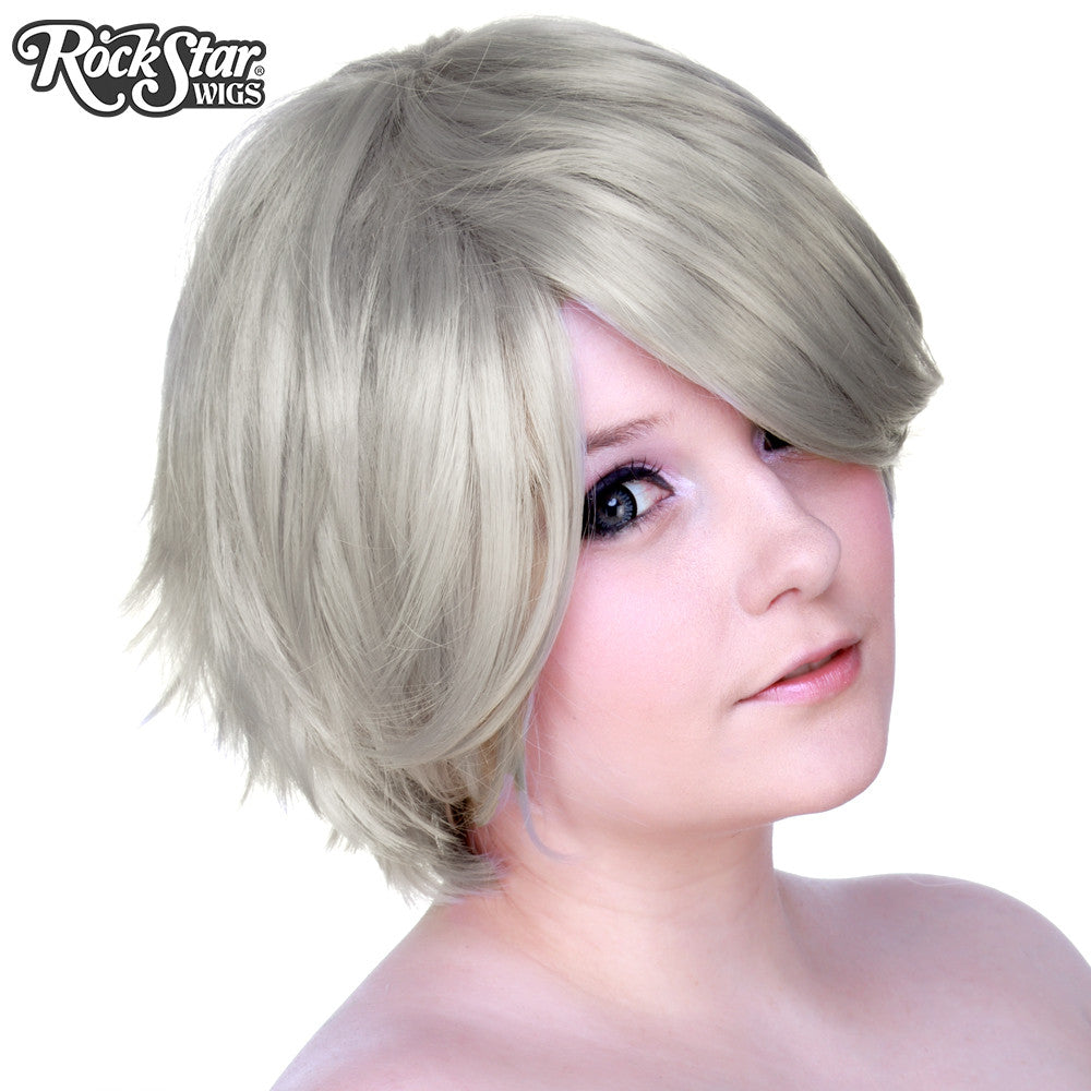 Cosplay Wigs USA™ <br> Boy Cut Short - Silver -00267