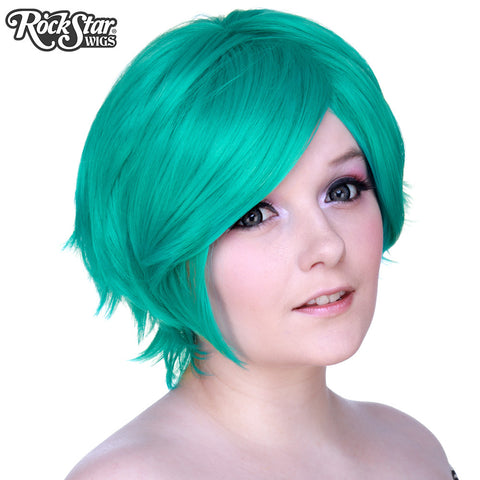 Cosplay Wigs USA™ <br> Boy Cut Short - Teal -00269