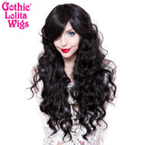 Gothic Lolita Wigs® <br>Classic Wavy Lolita™ Collection - Gypsy Kiss (Black) -00608