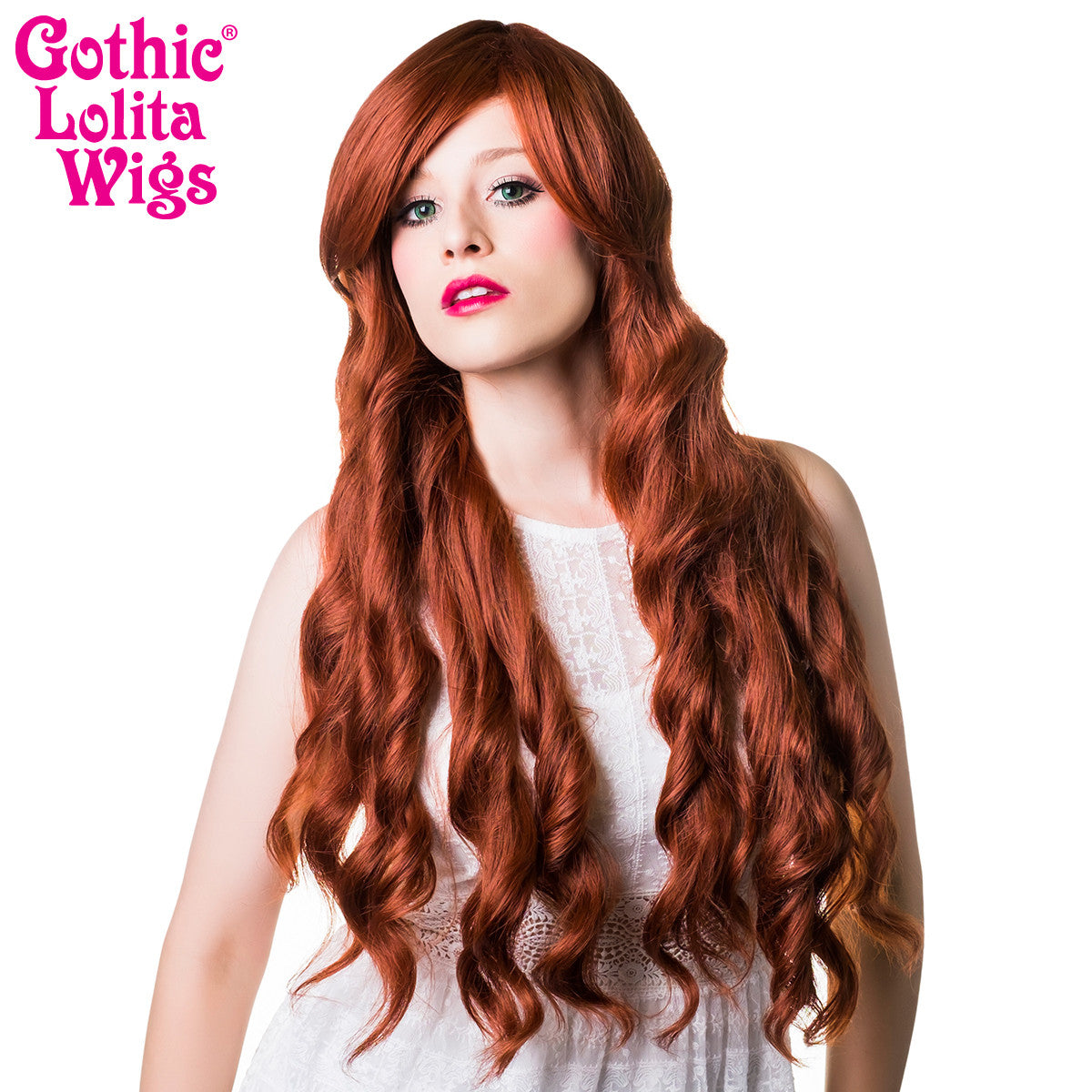 Gothic Lolita Wigs® <br> Classic Wavy Lolita™ Collection - Auburn Mix -00035