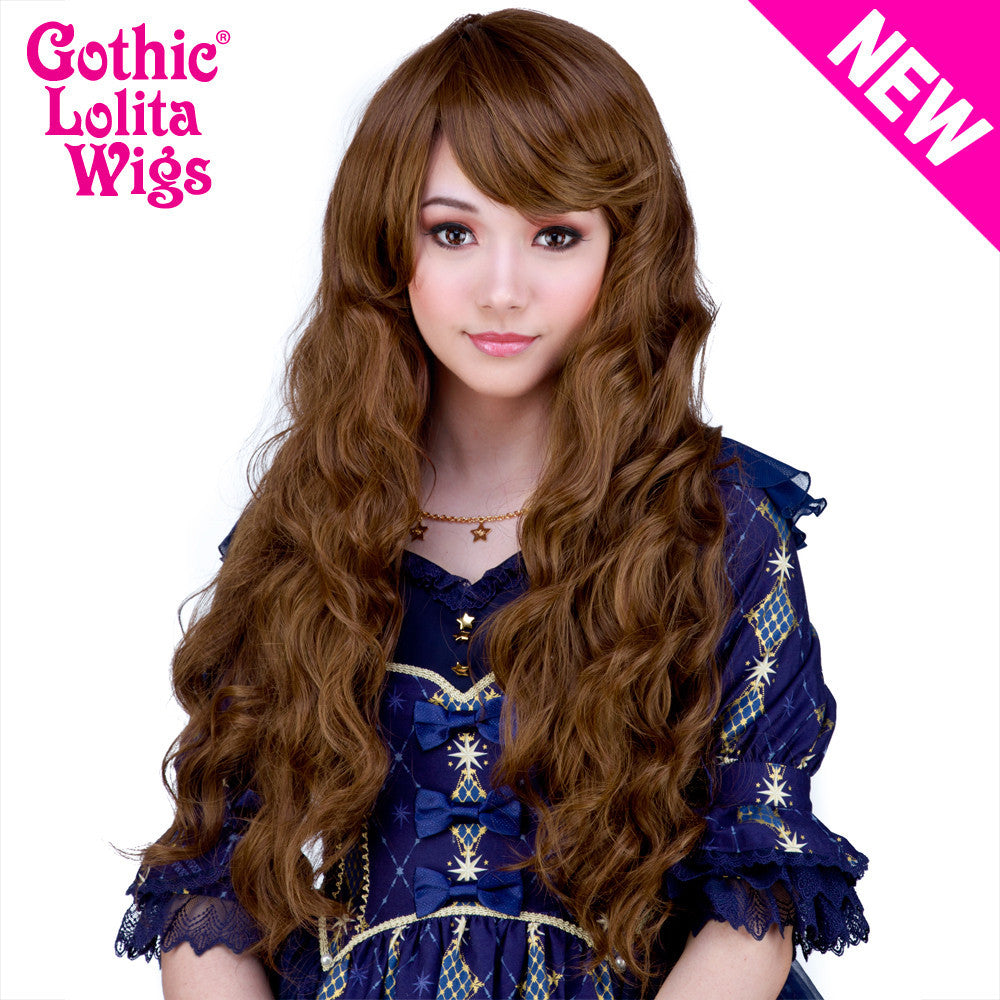 Gothic Lolita Wigs® <br> Classic Wavy Lolita™ Collection - Golden Chestnut Brown Mix -00496